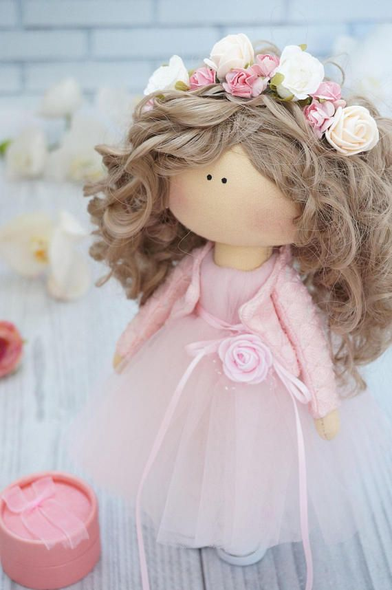 Poupée FREE Shipping Art Doll Puppen Gift for Her Rag Doll Tilda Fabric Doll Muñecas Pink Doll Panenka Cloth Doll Handmade Doll by Kristina _____________________________________________________________________________________ Hello, dear visitors! This is handmade cloth doll