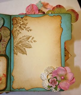 Shabby Beautiful Scrapbooking: Vintage Fairy file folder mini scrapbook album