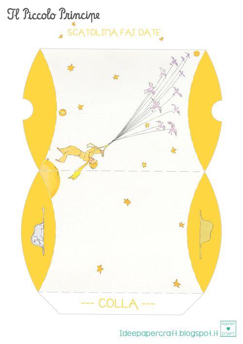Papercraft ♥ creare con la carta: Scatolina fai da te del Piccolo Principe