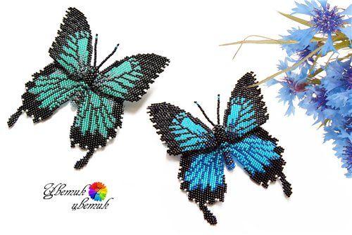 Брошки-бабочки | biser.info - всё о бисере и бисерном творчестве