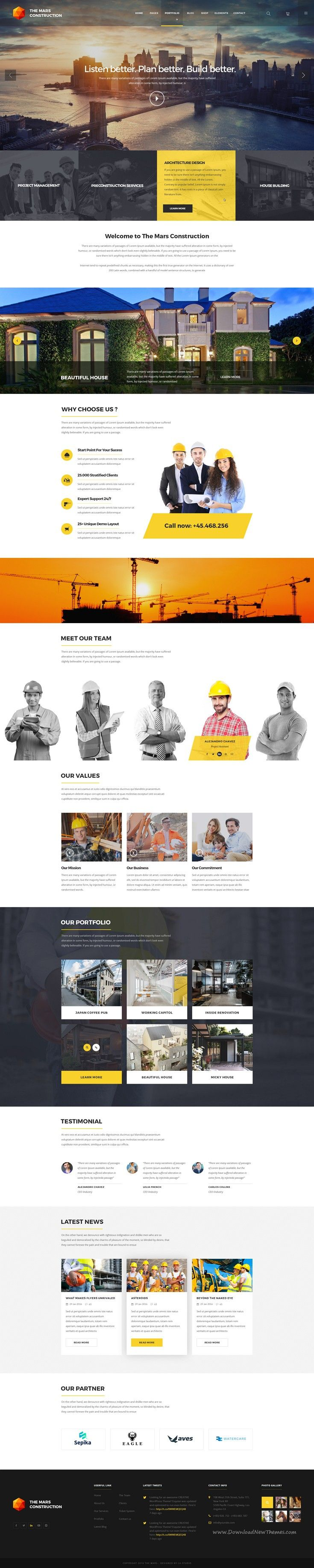 The Mars is Creative PSD #Template ideal for Creative, Agency, Corporate…