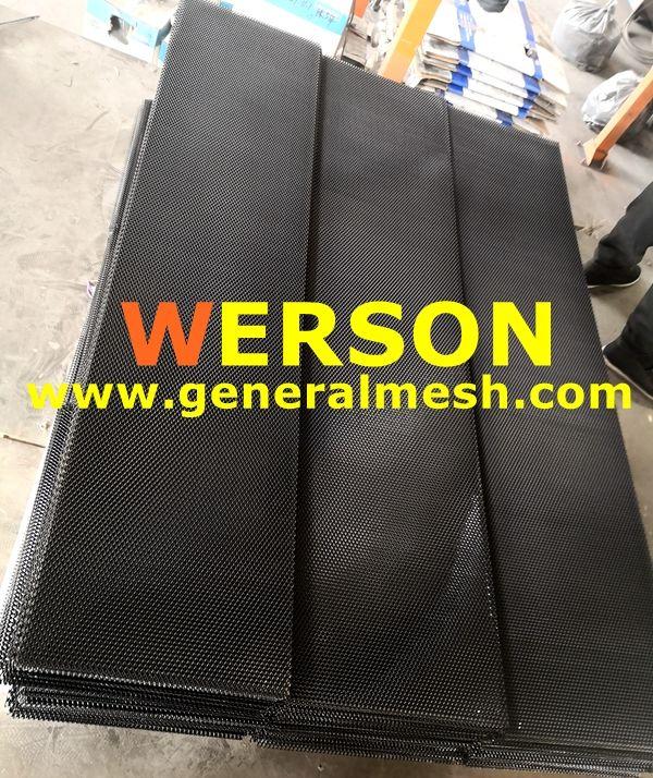 Specificatie De Kleur Zwart Materiaal Aluminium Grootte 40 X12 100 30cm Maaswijdte 8 Mm 16 Mm 0 32 0 64 Stijl Diamantst Black Aluminium Mesh