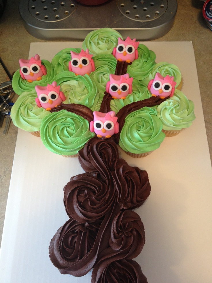 Cupcake Tree Cake Owls By Miss Hayley Cupcake Town