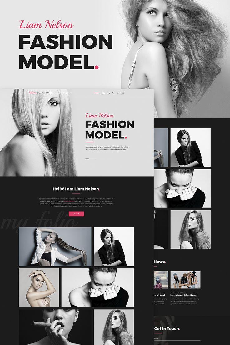 Nelson Fashion - Model Agency WordPress Theme #66849