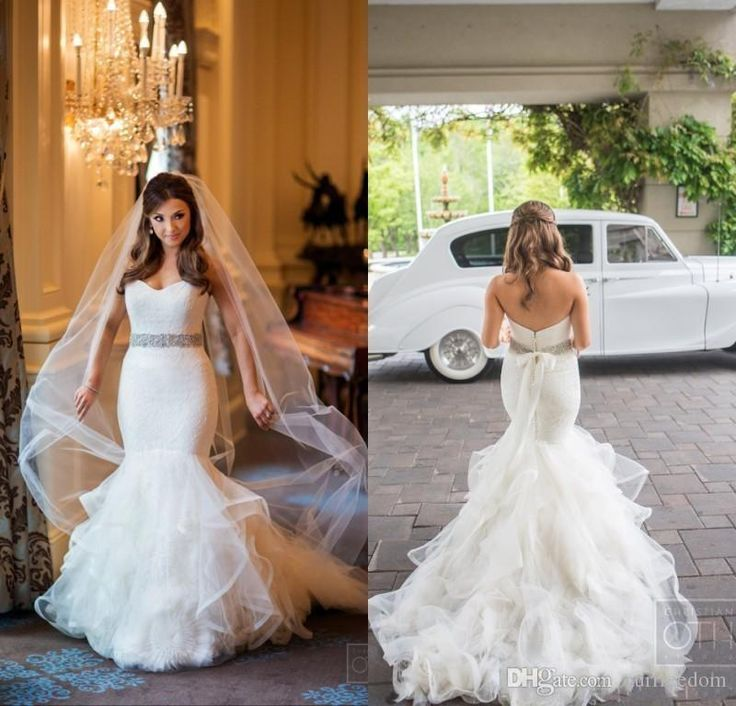 Arabic Style 2016 Sweetheart Mermaid Wedding Dresses Backless Lace Bodice Vintage Plus Size Bridal Gowns With Tiered Ruffles Skirts Custom Wedding Dress Tea Length Wedding Dresses For Bride From Ourfreedom, $138.4| Dhgate.Com