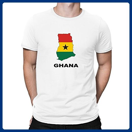 Teeburon Ghana Country Map Color T-Shirt - Cities countries flags shirts (*Amazon Partner-Link)