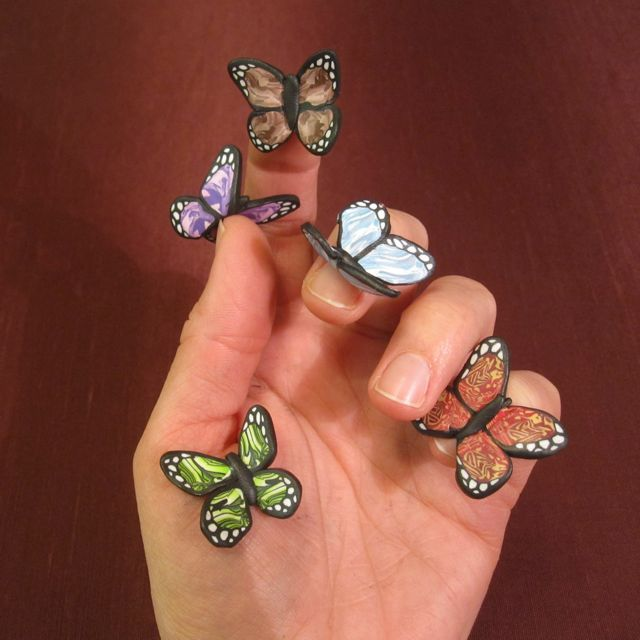 Creator's Joy: Free butterfly wing cane tutorial polymer clay
