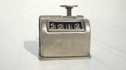 Vintage 40s Industrial Clicker Counter. $22.00, via Etsy.