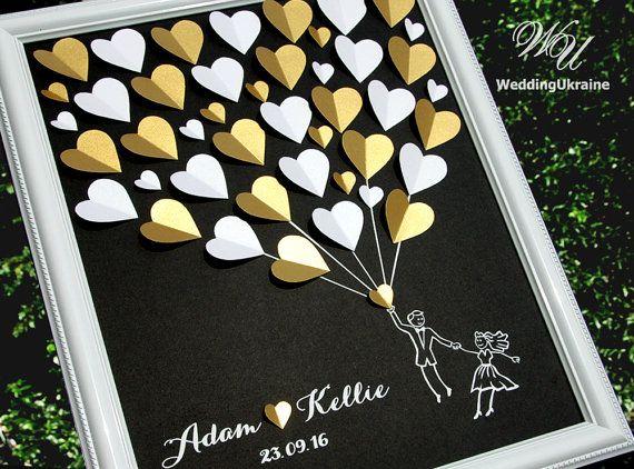 Wedding Guest Book Idea  Gold and Black Weddings by WeddingUkraine