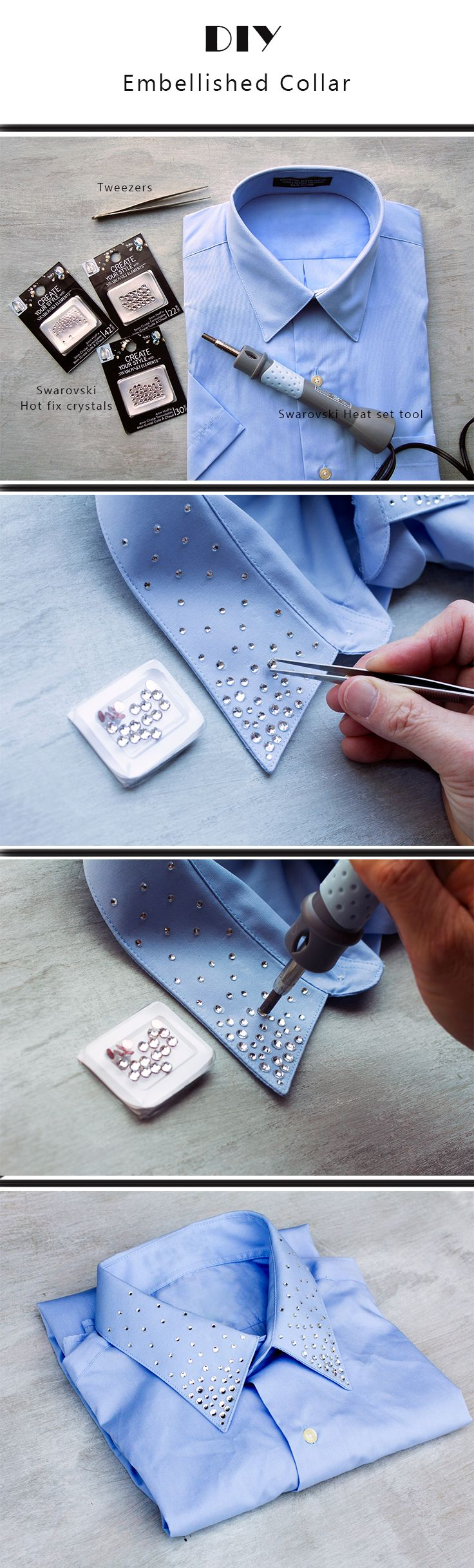 DIY Crystal Embellishments Collar