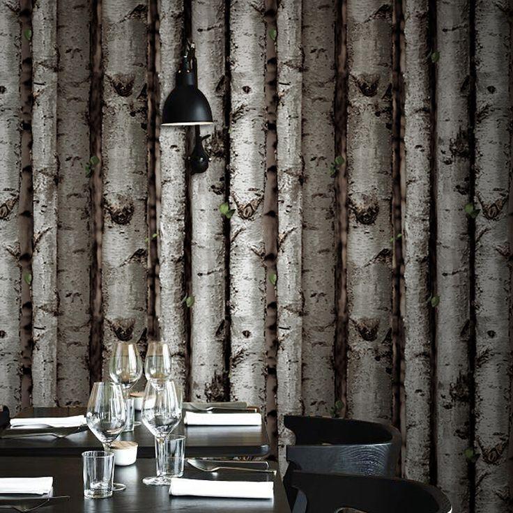 Lijkt berk hout behang roll voor muren vinyl behang op de muur quarto de sticker papier papel de parede AB012(China (Mainland))