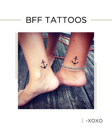 The best friend tattoos you and BFF need -- because ink is forever, just like your friendship