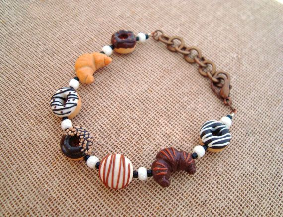Check out this item in my Etsy shop https://www.etsy.com/listing/224990774/bracelet-with-chocolate-donuts-handmade