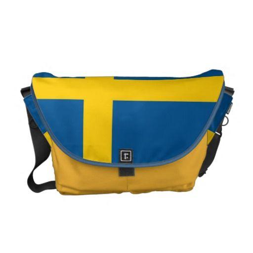 Swedish Flag Rickshaw Messenger Bag