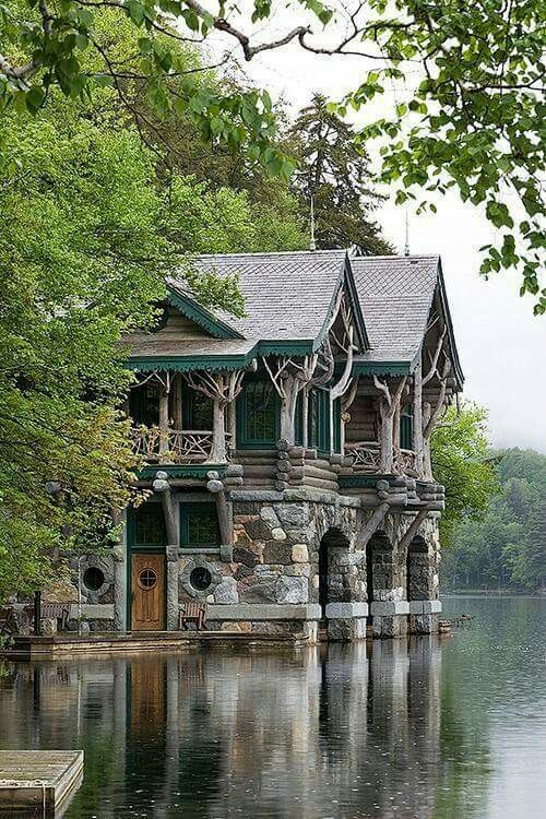 Lakeside castle the structure is very Elvin like. Micoley's picks for #AbandonedProperties www.Micoley.com
