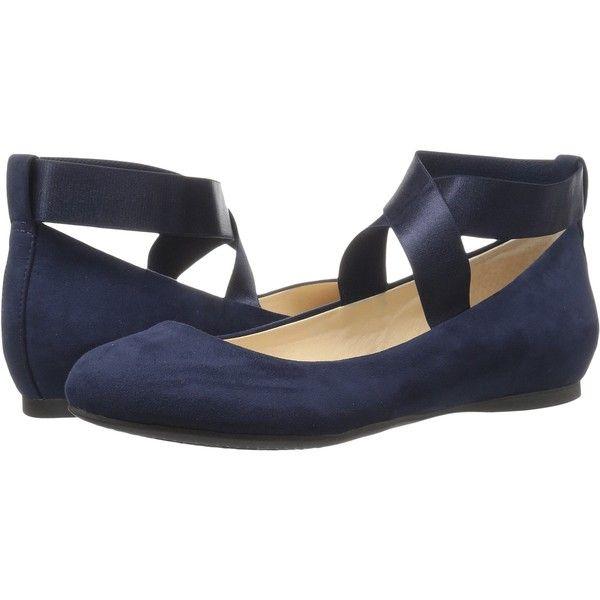 Jessica Simpson Mandayss (Dark Midnight) Women's Flat Shoes ($35) via Polyvore featuring shoes, flats, blue, ballet flats, flat pumps, blue ballerina shoes, ballet shoes and ballerina flat shoes