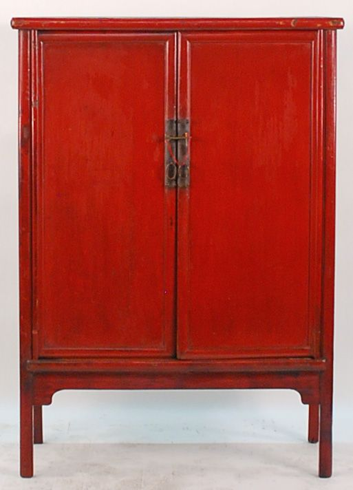 antique asian furniture antique chinese red lacquered 2 door cabinet from shanxi province cheap oriental furniture