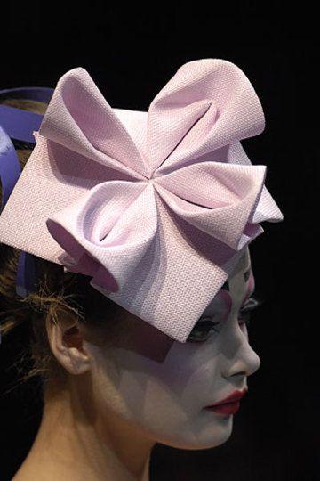 *.* Pink_origami_hat. John galliano