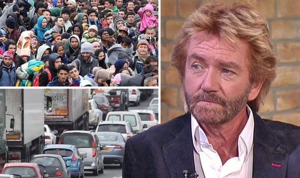 "VETERAN TV star Noel Edmonds sparked an immigration row yesterday when he declared: ""Britain is full""."