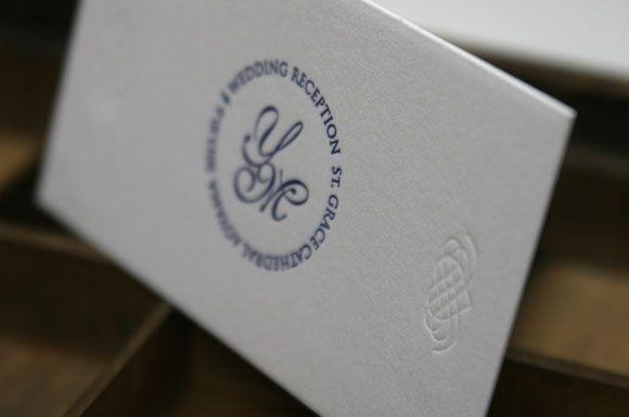 ロゴ招待状 活版印刷