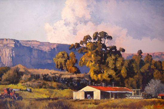 Ted Hoefsloot - Farm Near Clarens (510 x 760)
