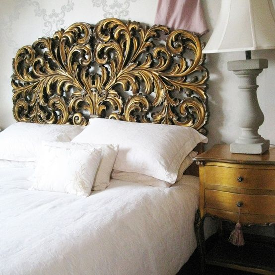 Gold Gilt Rococo Headboard From The Marvelous French Bedroom Company