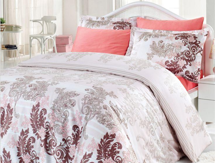 irya 6-tlg. Satin Bettwäsche-Set CARMEN, 200x220 cm, braun  #irya #bettwäsche #luxus #edel #wohlfühlen #entspannen #schlafen #bedroom #dekoideen #weich #kuschelig