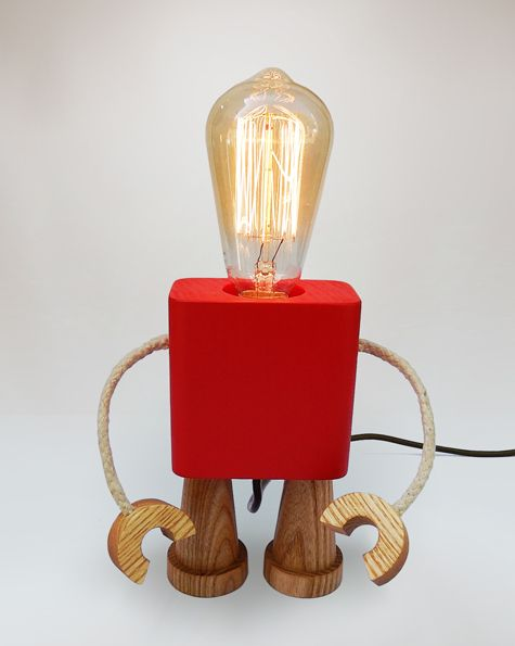 Lamp | Robo | Red | Matt Pugh - Modern British Design