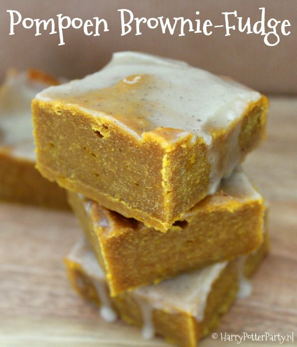 Delicious pumpkin brownie fudge for your Harry Potter Party!
