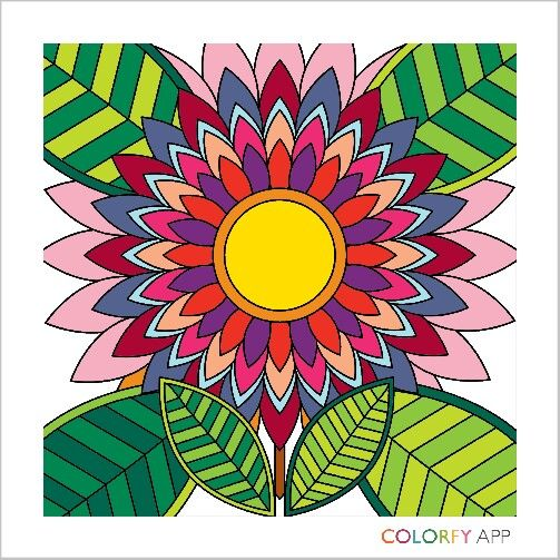 Flower..coloring theraphy