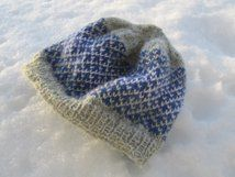 Pattern for knitted hat, Vinter. Stranded colourwork.