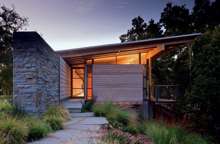 Modern Design Inspiration: Simple Shed Roof - BCJ Architects, Halls Ridge Knoll Guest House