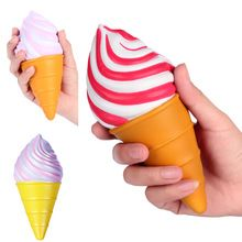 15pcs/lot Slow Rising Squishy Toys Vlampo Torch Ice cream Squishy Squishies Wholesale ice cream Cone Licensed Original 3 color(China)