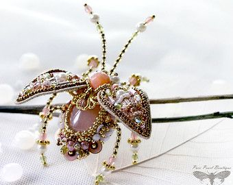 Beetle brooch Insect jewelry Red Beetle Indian inspired luxury