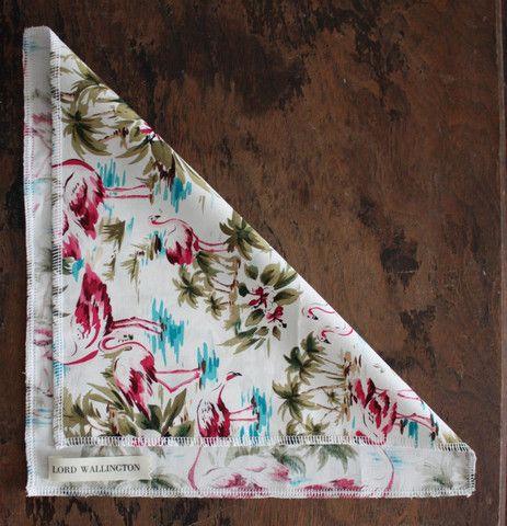 Pocket Square-Flamingo Hawaiian Print