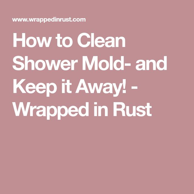 How to Clean Shower Mold- and Keep it Away! - Wrapped in Rust