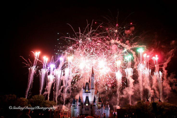 Magic Kingdom fireworks. Disney 2015