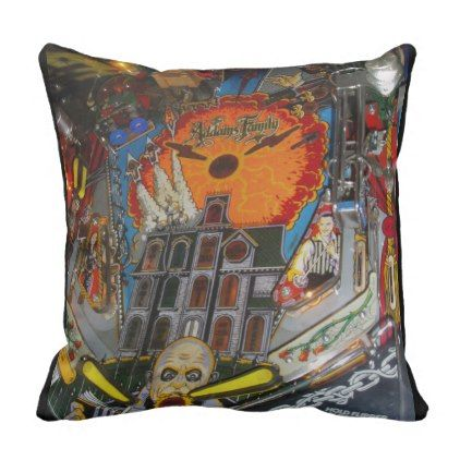 The Addams Family Pinball Game Throw Pillow - photography gifts diy custom unique special