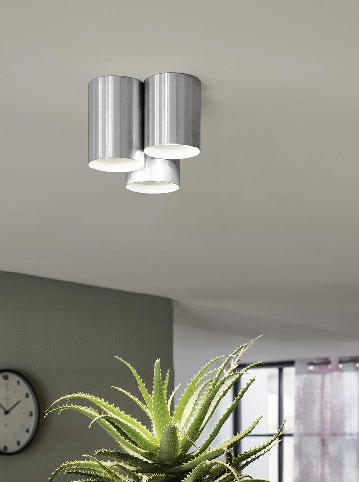 Eglo Lighting / Lasana / LED Aluminium Ultra Modern 3 Lamp Tube Flush Spot Down Light
