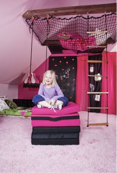 Such a cool room for a little girl!