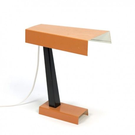 Oranje tafel-/ bureaulamp van Hala Zeist