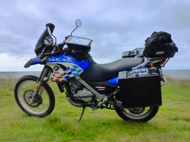 2003 BMW F650GS Dakar - Loaded up and ready to go!