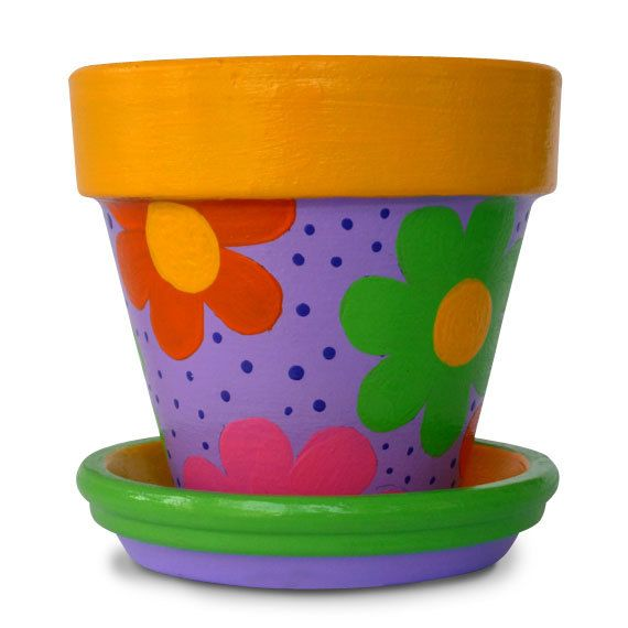 Hand Painted Flower Pot For Birthday Party by MicheleCordaroDesign, $16.00