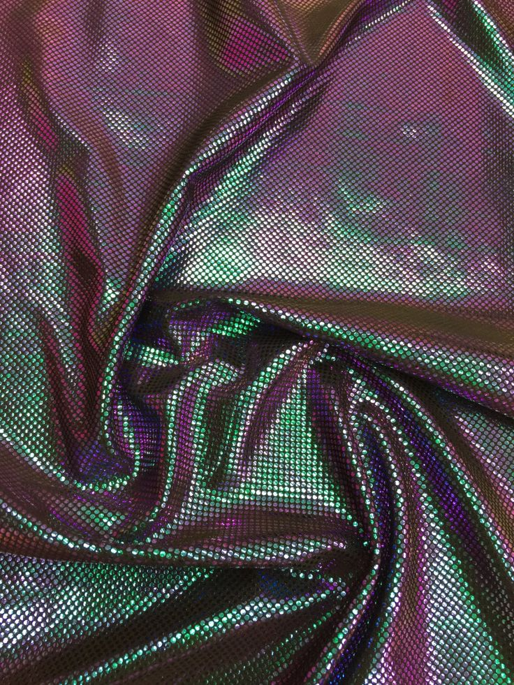 new two tone iridescent green/purple spandex 4 way stretch fabric by yard (not washable) by la20fabrics on Etsy