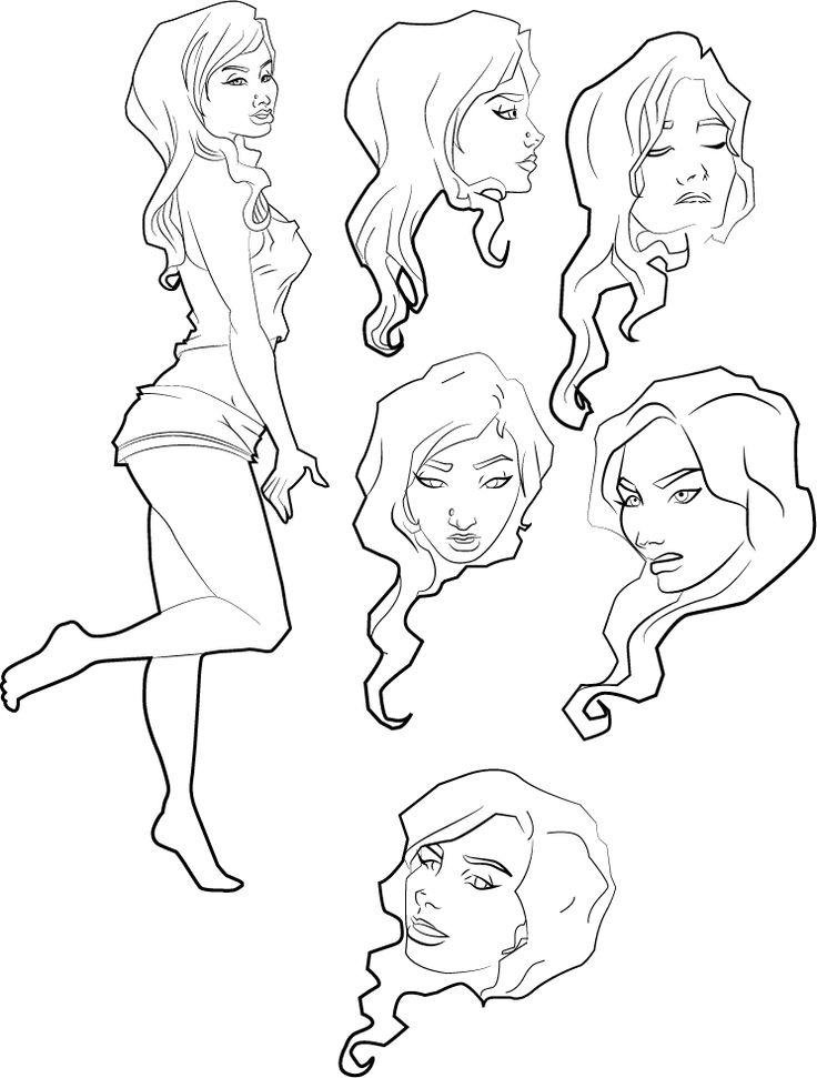Estudios de personaje Amy