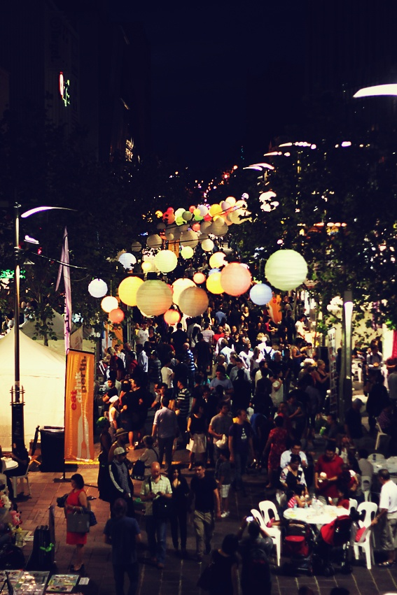 perth twilight markets: food fair! delicious food, great atmosphere and awesome lanterns.