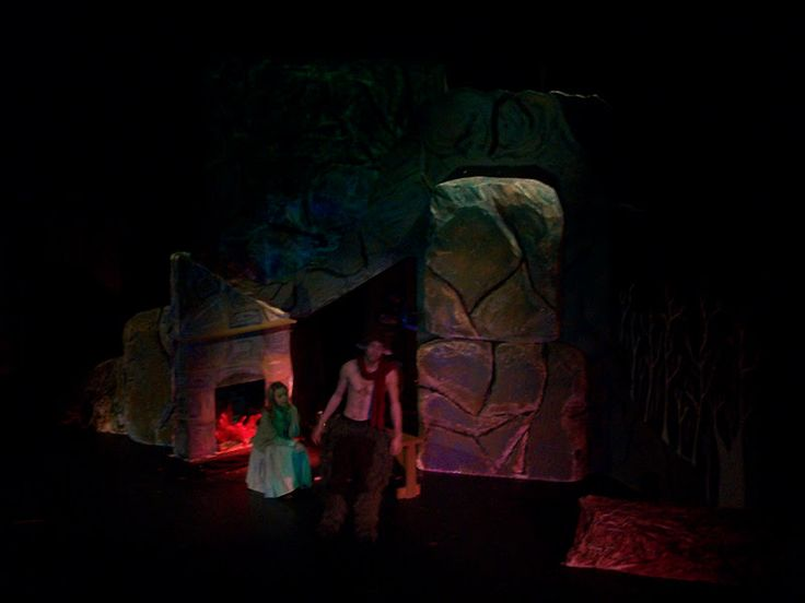 (Set of Tumnus cave, design collaboration of Joe Reed and Myself.)