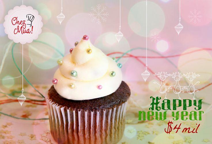 10, 9, 8, 7, 6 ,5, 4, 3, 2, 1 ¡Feliz añoooo! Empieza el año renovando tu dulce paladar con esta delicia cargada de mucha prosperidad. Pídelo aquí: https://www.facebook.com/chezmua/app_137541772984354  #cupcake #navidad #calico