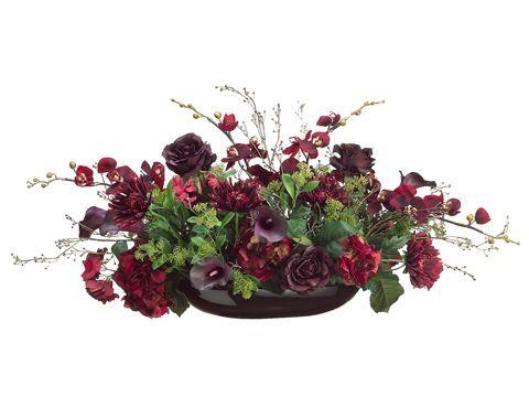 hydrangea calla lilly large silk flower arrangement floral home decor silk rou2026