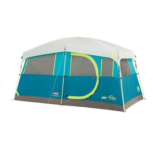 Coleman - Tenaya Lake Fast Pitch 6 Person Cabin Tent w/ Cabinets - Sawtooth Camping Essentials - 2
